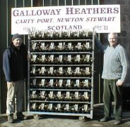 Photograph of owners Marcus and Noel at Galloway Heathers